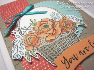 Blossoming basket banner - peach 3