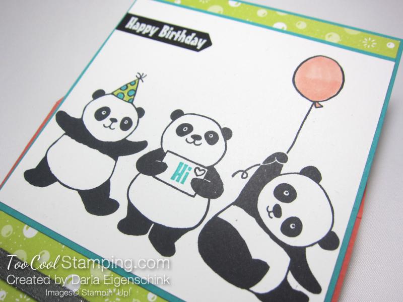 Darla party panda easel card 3