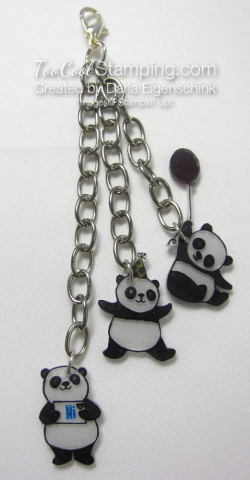 Darla party panda zipper pull 1