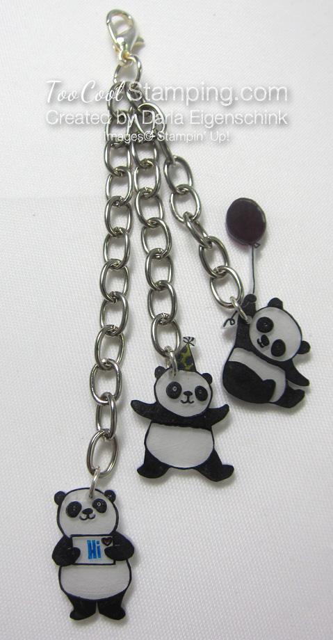 Darla party panda zipper pull 1