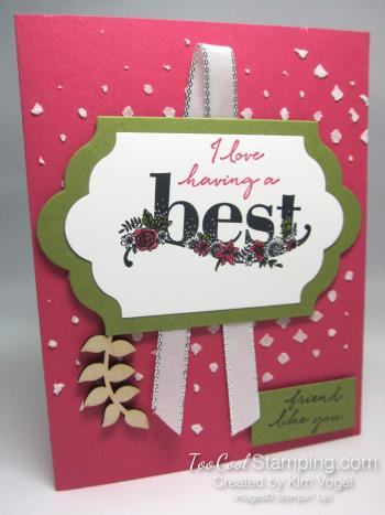 Happy wishes best embossed - kim vogel 1