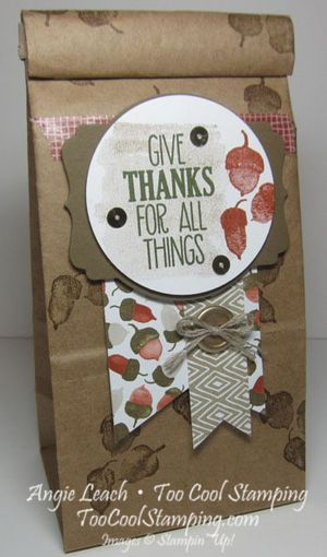 Cafe bags - give thanks