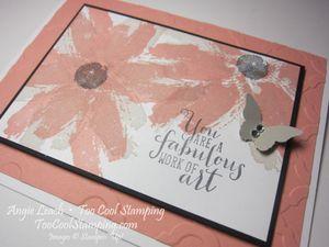 Work of art daisies - cantaloupe 2