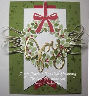 Wondrous Wreath Banner - old olive joy