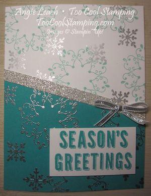 Letterpress bermuda diagonal - seasons greetings