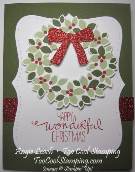Wondrous wreath top note - mossy