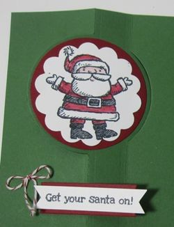 Santa on flip card - white5