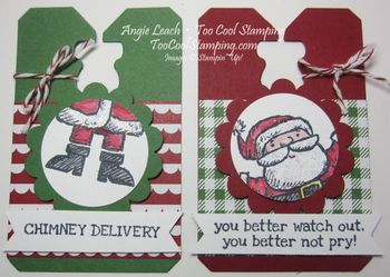 Santa on - two cool tags