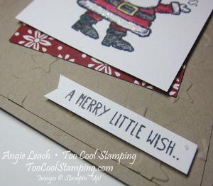 Tilted santa stars- cherry 3