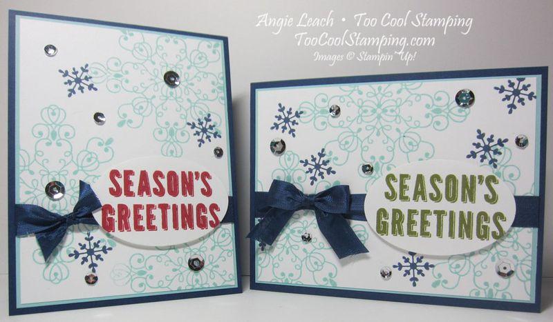 Letterpress greetings - two cool