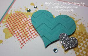 Washi sheet hearts - you're the best 2