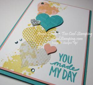 Washi sheet hearts - you made my day 2