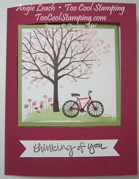 Sheltering tree pop out swing card - rose