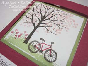 Sheltering tree pop out swing card - rose 2