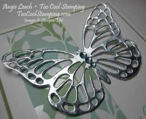 Irresistible silver butterfly - light 2