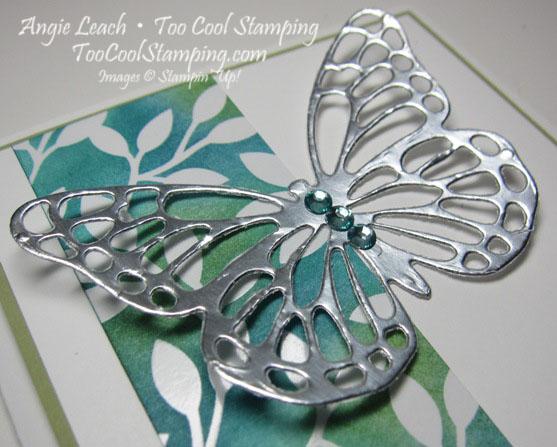 Irresistible silver butterfly - dark 2