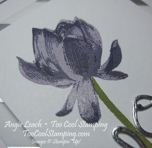 Lotus blossom foil - eggplant 3