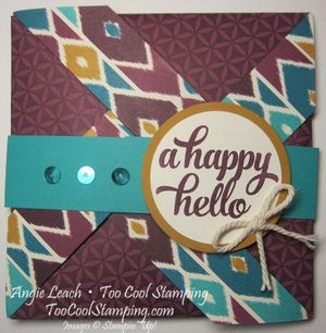 Bohemian pinwheel cards - blackberry hello