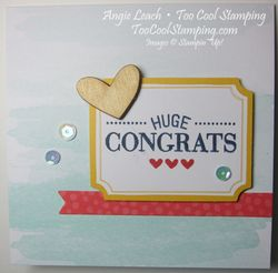 Watercolor Wishes - huge congrats note