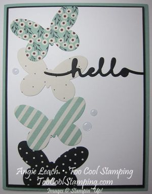 Pretty greetings - mint hello