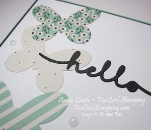 Pretty greetings - mint hello 2