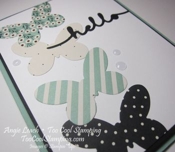 Pretty greetings - mint hello 3