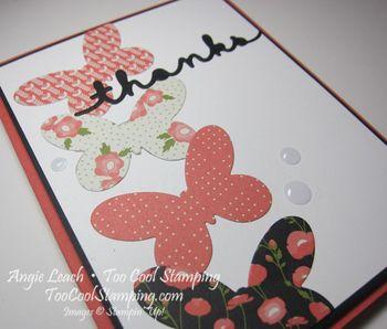 Pretty greetings - coral thanks 3