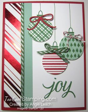 Stripes ornaments - red h stripes
