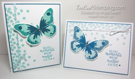 Dotty watercolor wings - two cool