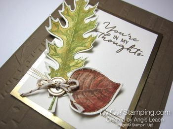 Vintage Leaves watercolor - thoughts2
