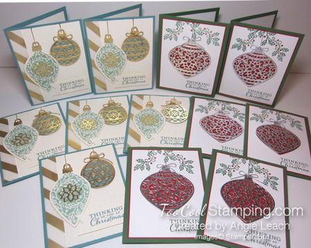 Embellished ornaments - ensemble
