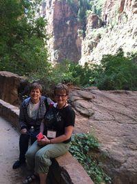 Ann Schach and Eldonna at Zion