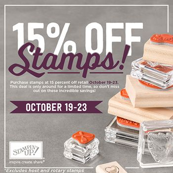 15 off stamps mini