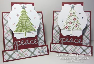 Peaceful pines step cards - 2 cool