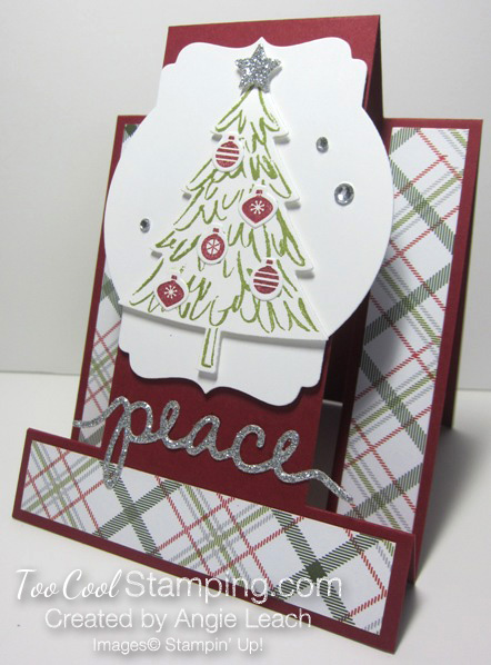 Peaceful pines step cards - mini ornaments