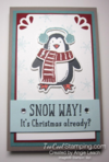 Snow way note pad