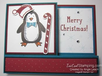 Snow place side pull card - penguin 1