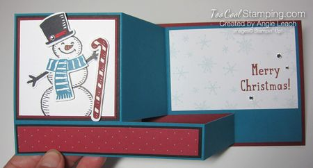 Snow place side pull card - snow man 4