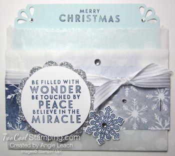 Folded bag gc holder - flurry of wishes