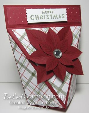 Snap close treat boxes - plaid