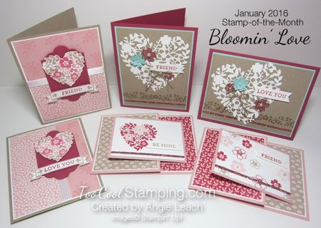 January 2016 Stamp Of The Month Class Bloomin Love