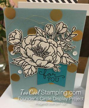 Birthday blooms - FC lagoon gold dots