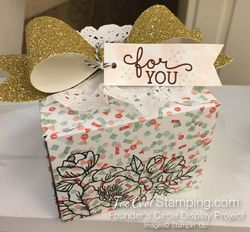 Birthday blooms - FC confetti box gold bow
