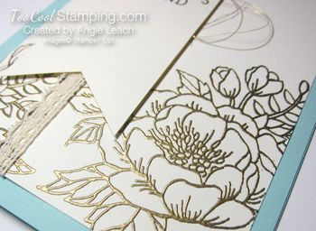 Birthday blooms embossed - gold 2