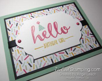 Hello Birthday Girl - mint3