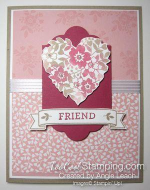 Bloomin love sponged heart - friend center