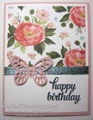 Quick dsp tin of cards - flower birthdayl