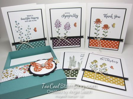 Sab celebration box - flowering 5 cards & box
