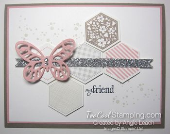 Hexagon butterfly - blushing