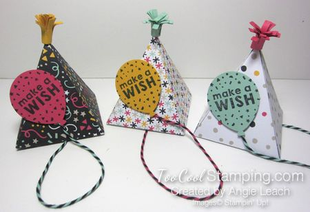 Party hat pinatas - three cool